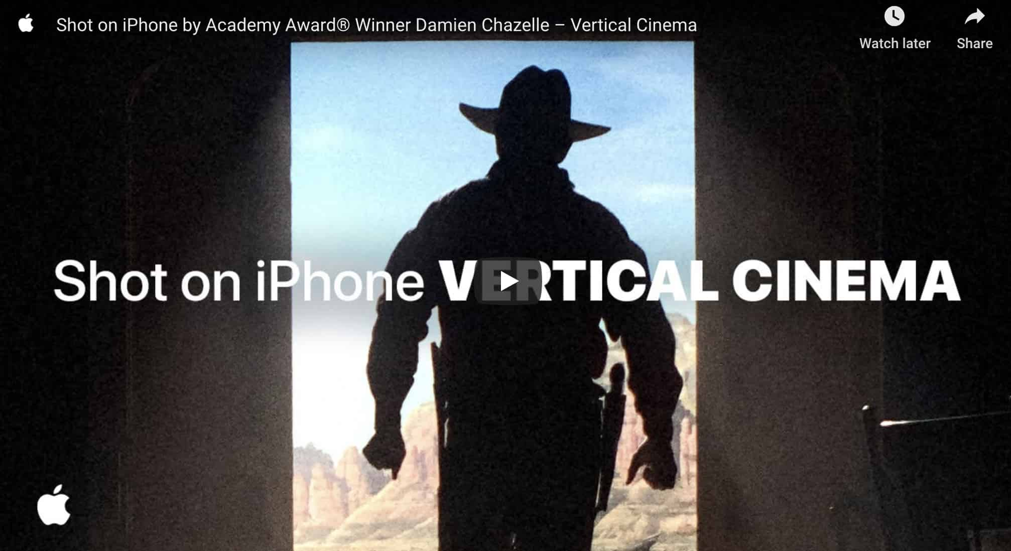 Apple Shares Vertical 'Shot on iPhone' Short Film by Damien Chazelle