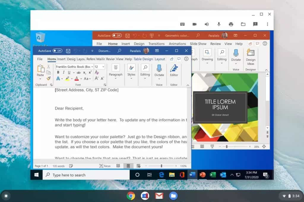 Run Windows Apps on Chromebook with Parallels