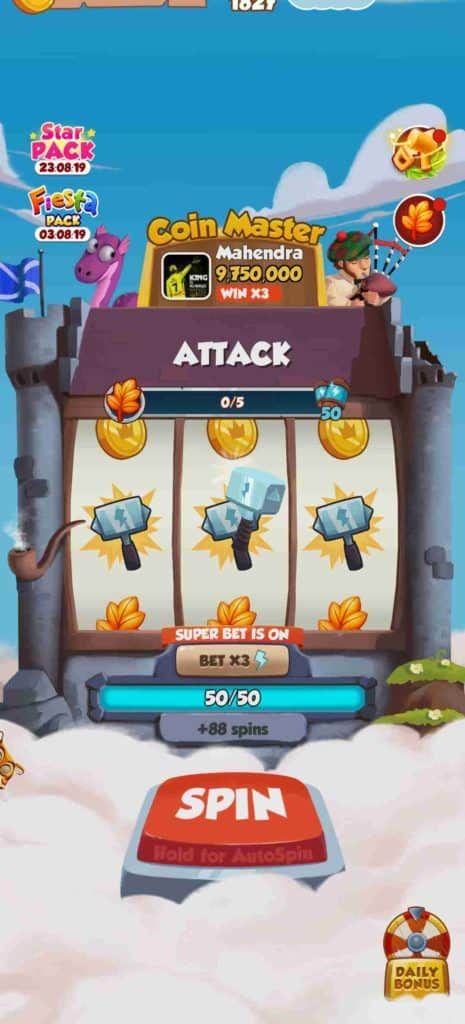 Coin Master Attack Game Info