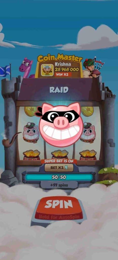 Coin Master Raid (SPINS)