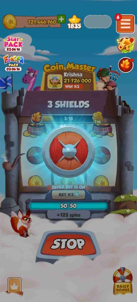 Coin Master Free Spins: Shields