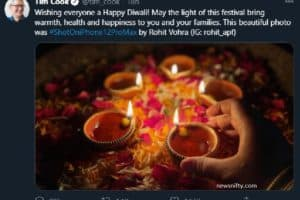 Tim Cook says Happy Diwali